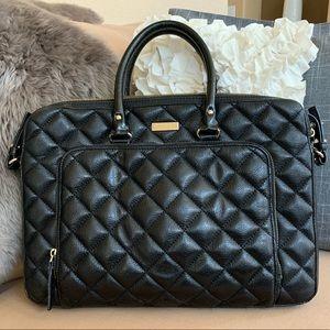 Kate Spade Black Quilted Messenger Work Bag
